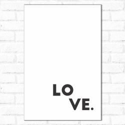 Placa Decorativa little love