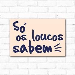 Placa Decorativa Loucos