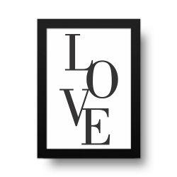 Placa Decorativa Love Basic