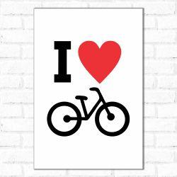 Placa Decorativa Love Bike