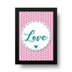 Placa Decorativa Love Corações