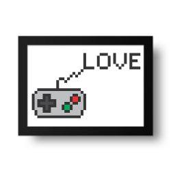 Placa Decorativa Love Game