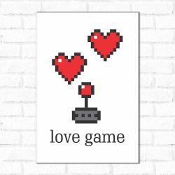 Placa Decorativa Love Game 2