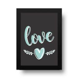 Placa Decorativa Love Hearts
