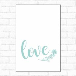 Placa Decorativa love Hearts Clean
