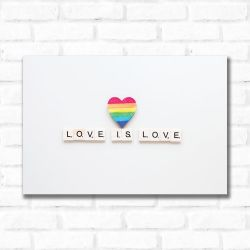 Placa Decorativa Love is Love