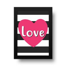 Placa Decorativa Love Listras
