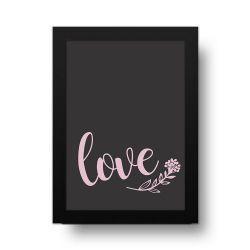 Placa Decorativa Love Rose