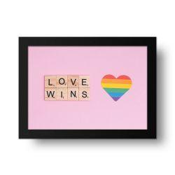 Placa Decorativa Love Wins
