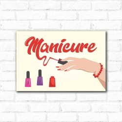 Placa Decorativa Manicure