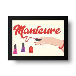Placa Decorativa Manicure
