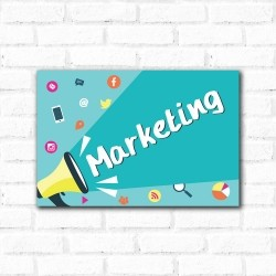 Placa Decorativa Marketing