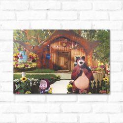 Placa Decorativa Masha e o Urso 2