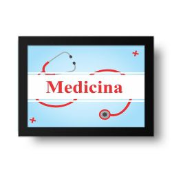 Placa Decorativa Medicina