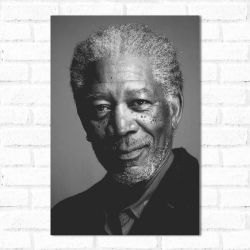 Placa Decorativa Morgan Freeman