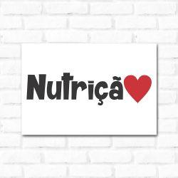 Placa Decorativa Nutrição 2