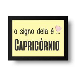 Placa Decorativa O Signo dela é Capricórnio