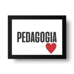 Placa Decorativa Pedagogia