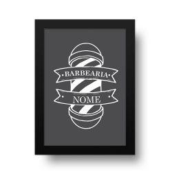 Placa Decorativa Personalizado Barbearia Gray