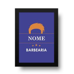 Placa Decorativa Personalizado Barbearia Orange
