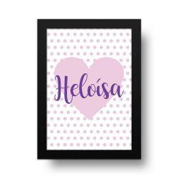 Placa Decorativa Personalizado Coração