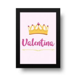 Placa Decorativa Personalizado Coroa Girl