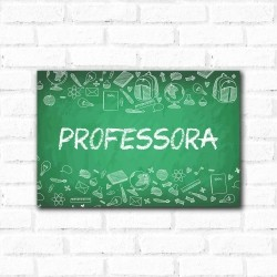 Placa Decorativa Professora