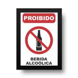 Placa Decorativa Proibido Bebida Alcoólica