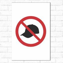 Placa Decorativa Proibido Boné Simples