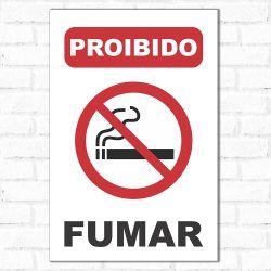 Placa Decorativa Proibido Fumar