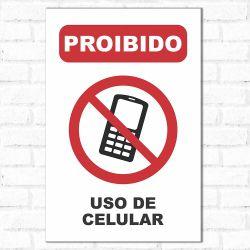 Placa Decorativa Proibido Uso de Celular