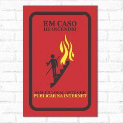 Placa Decorativa Publicar na Internet