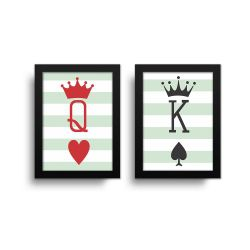 Placa Decorativa Rei e Rainha