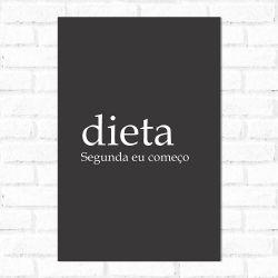Placa Decorativa Significado Dieta