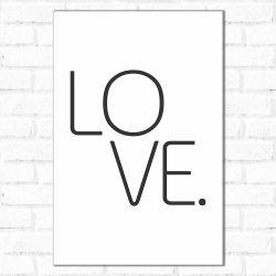 Placa Decorativa Simples Amor
