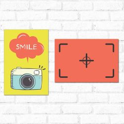 Placa Decorativa Smile!