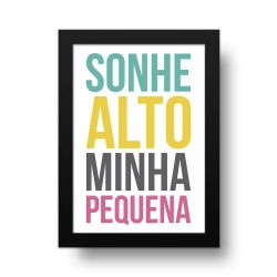 Placa Decorativa Sonhe Alto Basic