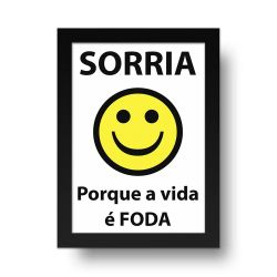 Placa Decorativa Sorria