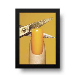 Placa Decorativa Unha Amarela