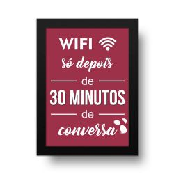 Placa Decorativa Wifi