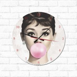 Relógio Decorativo Audrey Hepburn