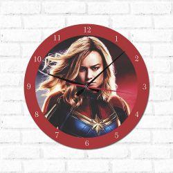 Relógio Decorativo Capitã Marvel
