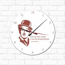 Relógio Decorativo Charlie Chaplin