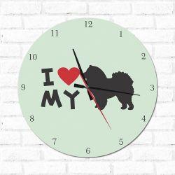 Relógio Decorativo I love My Chow Chow