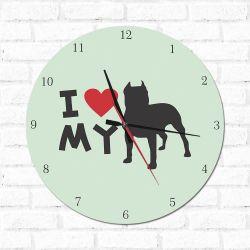 Relógio Decorativo I love My Pit Bul