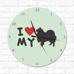 Relógio Decorativo I love My  Spitz Alemao