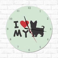 Relógio Decorativo I love My Yorkshire