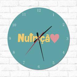 Relógio Decorativo Nutrição