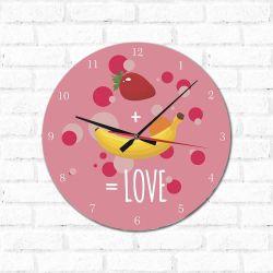 Relógio Decorativo  Fruit is love