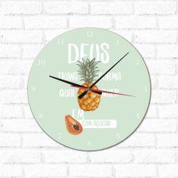 Relógio Decorativo Mamão Com Açúcar
